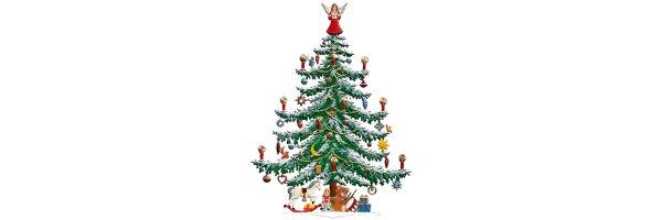 Weihnachtsbäume und Weihnachtspyramiden