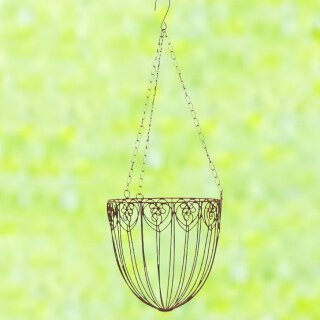 Pflanzkorb zu hängen Metall rostbraun