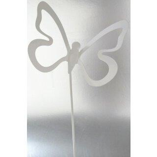Schmetterlingspick weiß