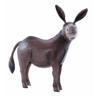 dekorative und ausgefallene Esel-Figur Metall-Figur Metall bemalt