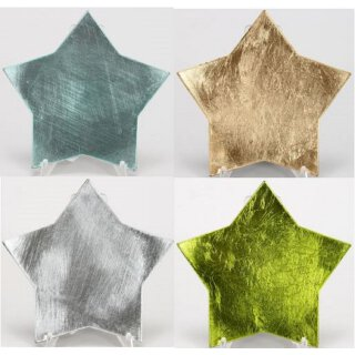 dekorativer Teller Dekoteller Untersetzer in Sternform metallic glänzend klein ca. 16 cm