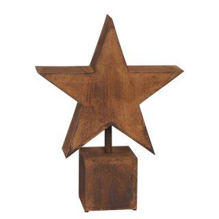 dekorativer Stern auf Säule Metall rostig