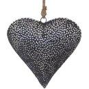 dekorativer Anhänger Herz mit silbernen...