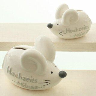 Spardose in Mausform mit Spruch Hochzeitsmäuse Preis für 1 Stück