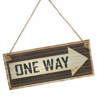Schild One Way