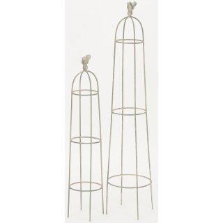 dekorativer Gartenobelisk Rankobelisk Rank-Hilfe Rosengitter Preis für 1 x groß und 1 x klein