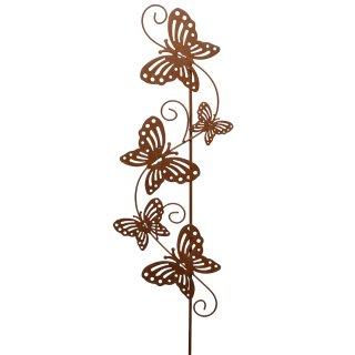 dekorativer Garten-Deko Metall-Stecker Garten-Stecker Deko-Stecker mit Schmetterlingen Metall rostig