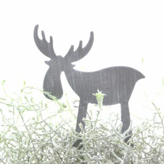 dekorativer Elchpick Metall hellgrau matt Preis für 2 Stück