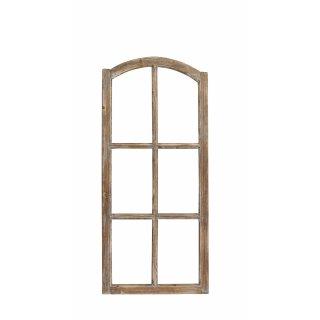 Deko-Fensterrahmen Holz- Rahmen Fenster-Attrappe Holz natur shabby gewischt Vintage