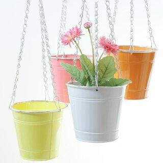 dekorativer fröhlicher farbiger Blumentopf zum hängen Preis für 2 Stück
