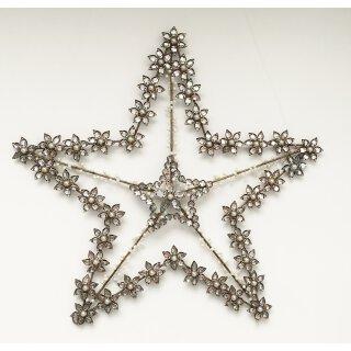 großer ausgefallener Straß-Stern als Wanddeko Türdeko edel im Landhaus Stil