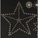 großer ausgefallener Straß-Stern als Wanddeko...