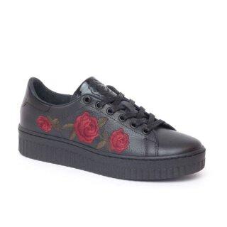 Shoecolate Damenschuh Sneaker Schwarz
