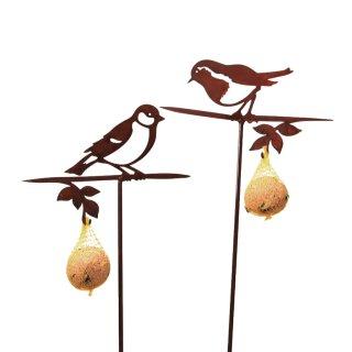 dekorativer Gartenstecker mit Meisenknödelhalter Preis für 2 Stück