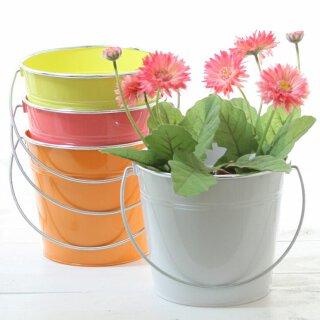 dekorativer fröhlicher farbiger Blumentopf Preis für 2 Stück