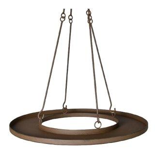 ausgefallener Metall-Teller braun zum Hängen Hänge-Ablage Kranz für Tischlichter und Deko