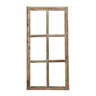 Deko-Fensterrahmen Holz- Rahmen Fenster-Attrappe Holz shabby gewischt Vintage