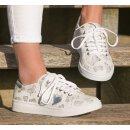 Cristofoli Damen Sneaker weiß mit Schmetterlingmuster Gr.