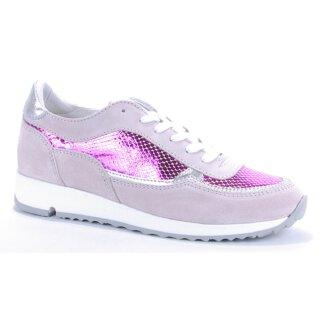 Binks Damen Sneaker mit fuchsia Metallic-Effekt Gr.