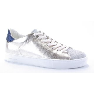 Crime London Damenschuh Sneaker Beat champagner-weiß-blau Gr.