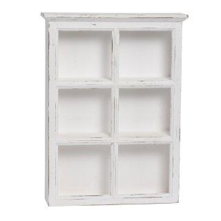 dekoratives praktisches Landhaus-Stil Regal mit 6 Fächern Holz shabby weiß  6 Fächer