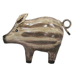 Metall-Deko-Figur Mini-Wildschwein Frischling Metall bemalt Preis für 2 Stück