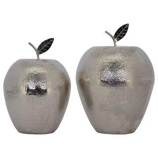 Dekoobjekt Apfel silber gehämmert