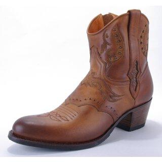 Damen Cowboy Stiefel SENDRA braun bestickt klassisch