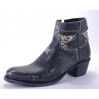 Damen Cowboy Stiefel SENDRA schwarz Vintage