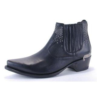 Damen Cowboy Stiefel SENDRA schwarz mit Nieten