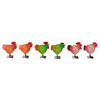 Hahn und Huhn gepunktet ca. 16 cm hoch Preis für 2 Stück 3 mögliche Farben