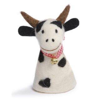 Eierwärmer Kuh mit Glöckchen