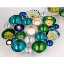 stimmungvoller Teelicht-Halter Tisch-Deko Gartentisch-Deko Wand-Deko Farbenspiel mittel