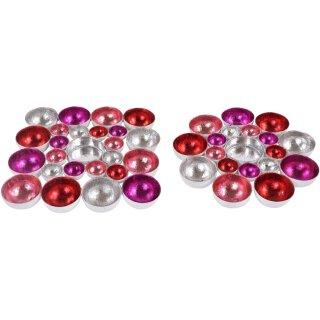 stimmungvoller Teelicht-Halter Tisch-Deko Gartentisch-Deko Wand-Deko Farbenspiel klein 2 mögliche Formen zur Auswahl