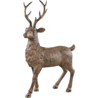 stimmungsvoller dekorativer großer Deko-Hirsch braun