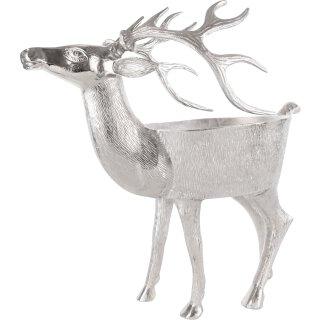 individuelle ausgefallene dekorative große Hirsch-Figur als Objekt-Schale Deko-Schale