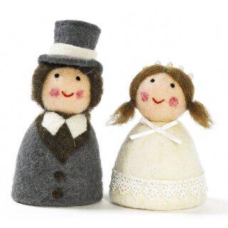 Eierwärmer Braut und Bräutigam 2 -er Set