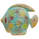 Metallfigur Fisch als Windlicht zum hängen und stellen 3 Farben zur Auswahl