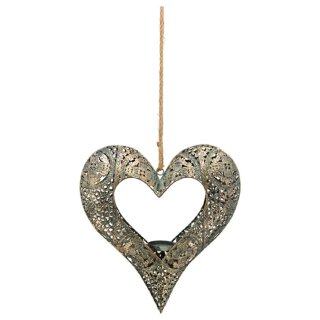 stimmungsvoller dekorativer Herz-Hänger für 1 Teelicht