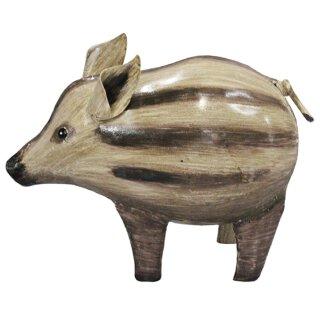 Metall-Deko-Figur Wildschwein Frischling Metall bemalt verschiedene Größen