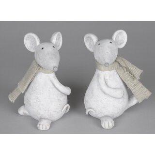 Dekofigur Maus Preis für 2 Stück
