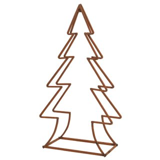 dekorativer ausgefallener Holzscheit-Halter Kaminholz-Halter als Tannenbaum-Silhouette