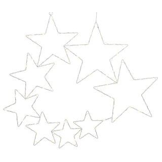 dekorative LED Leuchte für innen und außen als Sternengruppe