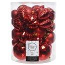 34er Set Kugelmix PVC rot mit Weihnachtskugeln...