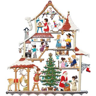 Wilhelm Schweizer Zinnfigur Weihnachtshaus Fensterbild
