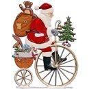Wilhelm Schweizer Zinnfigur Nikolaus auf Hochrad
