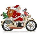 Wilhelm Schweizer Zinnfigur Nikolaus auf Motorrad