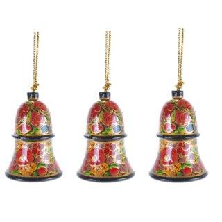 dekorative kleine Glocken in traditioneller Lackmalerei Preis für 3 Stück