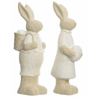 1bfbb8d6d2 extra großer frühlingshafter Deko-Hase Osterhase als Hasen-Paar aus Keramik  cremefarbig Preis für