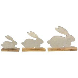 dekorative Deko-Hasen als Osterhasen-Silhouette in verschiedenen Größen